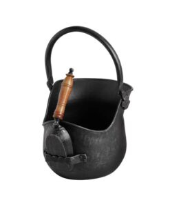 black-brushed-steel-coal-bucket-with-shovel