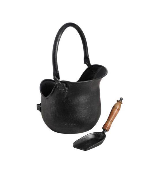 black-brushed-steel-coal-bucket-with-shovel-gallery-2