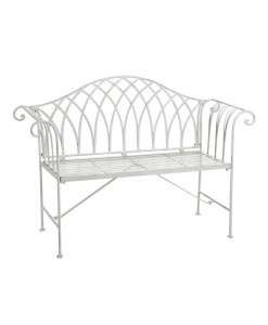 white-iron-garden-bench