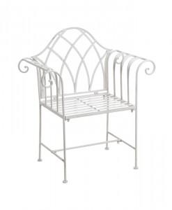 white-iron-garden-seat