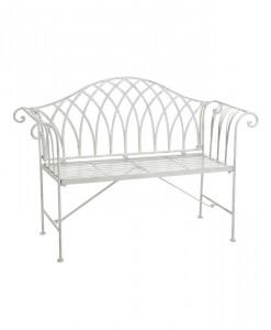 white-iron-garden-bench