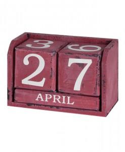 wooden-perpetual-calendar-red